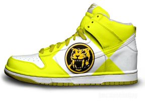 Yellow Power Ranger Nike Dunks by becauseimjay