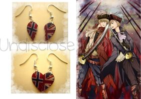 APH - Norway x England - Half Heart Earrings by Undisclose--Desires