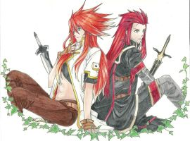 Luke and Asch   Art Trade by ShadowofChaos666