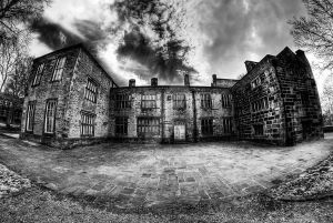 Bolling Hall. Infrared HDR Mono Fisheye by GaryTaffinder