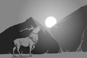 Wild Night-Mountain Stag by Ambience19