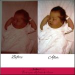 Before and after Color Correction Baby Photo by Tris-Marie