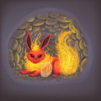 Flareon with Firestone by LeGray