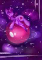 Twilly and her magical ball of the univers by Cupikagi