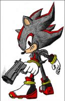 Shadow the Hedgehog Drawing by Blade-Genexis