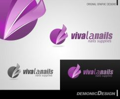 Vival La Nails Logo by dynamicmk