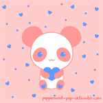 Valentines Panda by peppermint-pop-uk