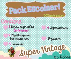 Pack Escolar super Vintagee by stephyLopez12