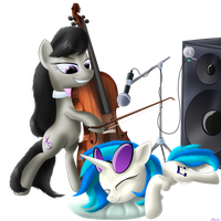 Octavia and Vinyl by Awalex