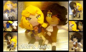 Oscar and Andre ChibiPlushies by eERIechan