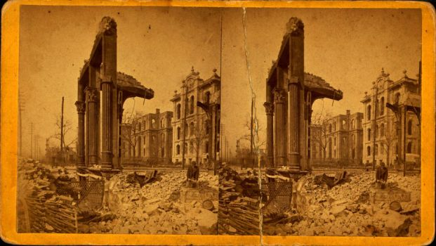 Court House seen through ruins of First ( ) Nation by yellowishhaze