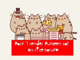 Pack Render #2 : Pusheen cat by Rize-Haruko