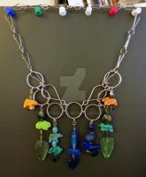 Fancy Animal Chainmail Steampunk Necklace by LyraAlluse