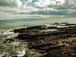 Overcast Skies Porthcawl Town Beach August 2012 by welshrocker