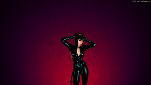 1366x768 Series Catwoman by rozidik