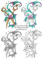Scissors with filigree by lavonne