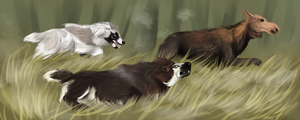 Tokotas are pack hunters by Mossasaurus