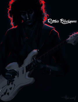 Ritchie Blackmore by Haizeel