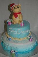 Christmas Teddy Cake by JanJL