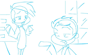 Jimmy And Kyle  WIP Part 1 (rough sketch) by gleefulchibi