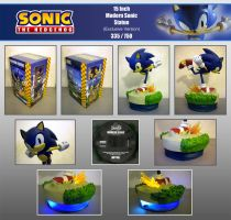 F4F Modern Sonic Statue by Fuzon-S