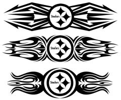 Steelers tribal by fastworks