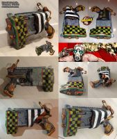 Borderlands Torgue display prop gun - nerf mod by GirlyGamerAU