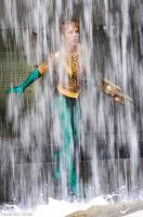 Aquaman In the Falls by RoxannaMeta