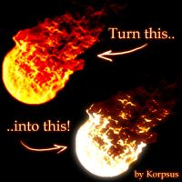 Real-color Flames by Korpsus