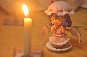 Remilia Scarlet and the candle by deathwen