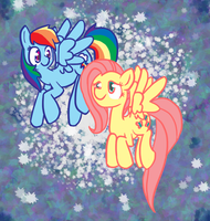 Rainbow Dash and Fluttershy by oOBadAngelOo