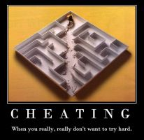 Demotivation Poster: Cheating by quicksilver22