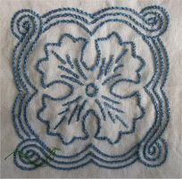 Embroidery Practice: Flower by raistlinsflame