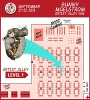 Portland Rose City Comic Con map by thedustud