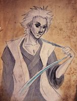 Art Sketch Exchange: Toushirou by Winrry
