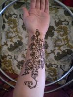 ~floral henna tattoo~ by Emeraldserpenthenna