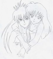 Kagome And Kurama by usagisailormoon20