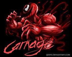 Spiderman : CARNAGE by qin93