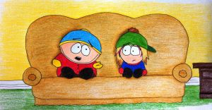 Commission: Cartman and Stevie by ThreadbareSP