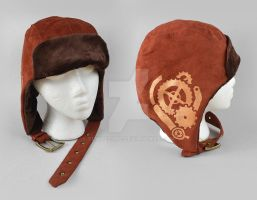 Steampunk Aviator Cap - The Mechanic by SewDesuNe