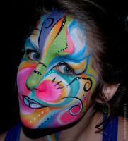 Face painting abstrait 3 by Anne-Marie-Noble-Art