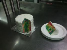 Four layer rainbow cake by lailatovluna
