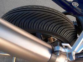 Superbike With Rain Tires by Azraphale