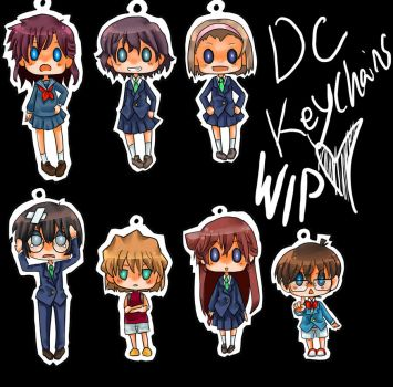 DC- Keychains by FishHeadThe3rdAndCo