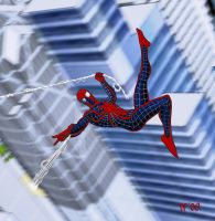 Spiderman Costume Redesign Mk2 by DavidWFisher