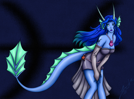 Zodiac Dragon Girl - Pisces by Synful-Lynkx