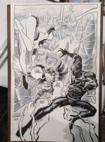 Storm and Black Panther VS. Dr. Doom Commission by DustinWeaver