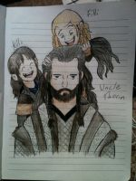 Uncle and Nephews by 3Demma-lee