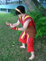 Toph in Fire Nation Clothes by MaNeKaOriC