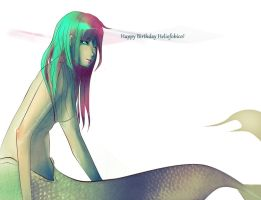 Mermaid Present-Helio by Black-sania